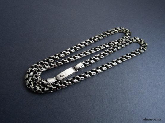 Мужская и женская серебряная цепь garibaldi