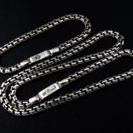 Мужской и женский серебряный браслет и цепь garibaldi с гравировкой лапки кошки и инициалов Ш.Р.